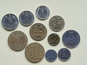 Mint Set 10 50 Kopecks 1 2 5 10 10 Hryven 2019 UNC Ukraine