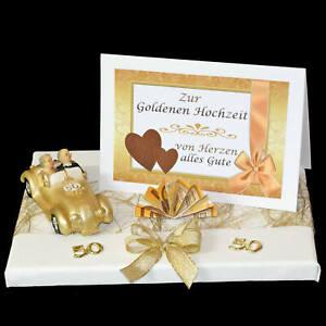 Details Zu ღ Geld Geschenk Zur Goldenen Hochzeit Mit Auto Und Karte ღ Goldene 50 Goldpaar