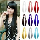 Newest Fashion Long Anime Wigs 80cm Cosplay Party Straight Womens Hair Full Wig