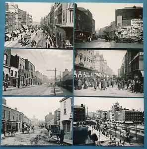 Set-of-6-New-Black-amp-White-Glossy-Postcards-OLD-DUBLIN-Ireland-Eire-Repro-21P