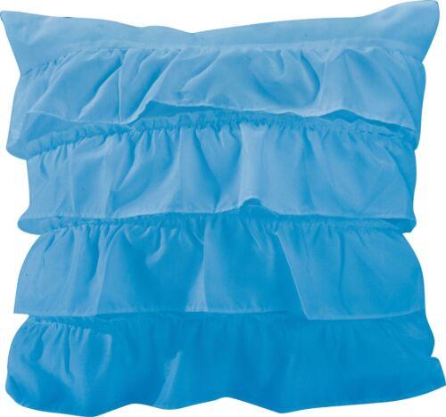 "Katy Ruffle Decorative Throw  Pillow Cushion Sofa 18/""X18Inch Bed"