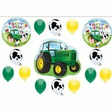 Tractor Birthday Party Balloons Decorations Farm Animal Cow John Deere Shower