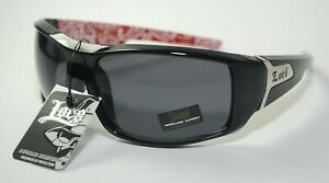 Details about Locs Sunglasses HARDCORE Cholo Shades Driving Eazy E Mad Dogger Black Red 9081