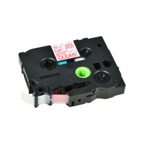 1PK TZ-M32 TZe-M32 Red on Matt Clear Label Tape For Brother P-touch PT-1880 12mm