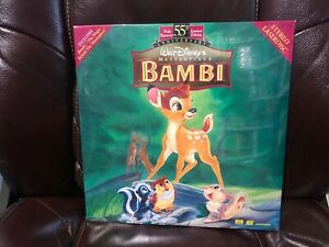 "Walt Disney's Masterpiece Bambi 12"" Laserdisc Brand New, Sealed"