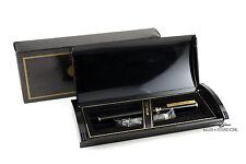 Platinum Belage Black with Gold Trim Fountain Pen - 14k Music Nib