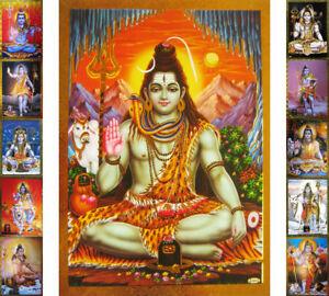 SHIVA-Lord-Shiva-Schiwa-Praegedruck-Altarbild-versch-Motive-Shiwa-Schiva-Kailash