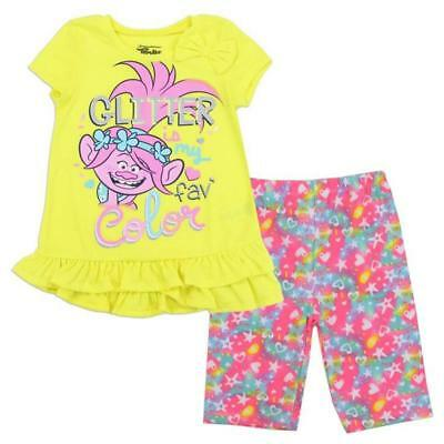 Lucky Brand Girls Coral Top 2pc Bermuda Set Size 2T 3T 4T 4 5 6 6X