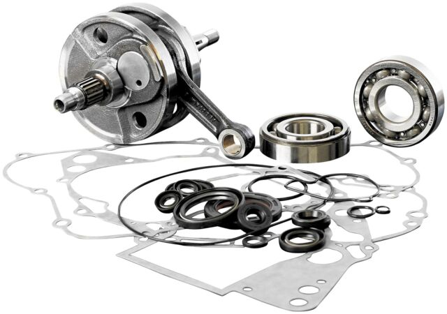 Wiseco WPC144 Crankshaft and Complete Bottom End Rebuild Kit with Gaskets