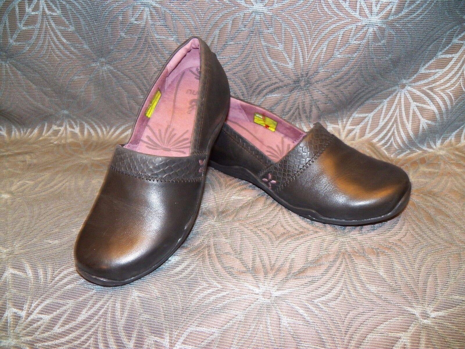 Nuevo para mujer Ahnu Jackie Reptil Reptil Reptil Cuero Negro Alpargatas mocasín Zapato Slip On  Ahorre hasta un 70% de descuento.