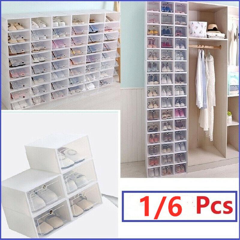S L Clear Dustproof Plastic Shoe Organizer PP Thicken Drawer Shoes Storage Box