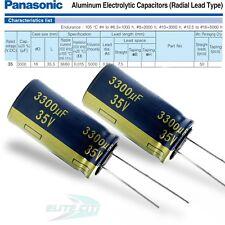 2x Panasonic Fc Series 35v 3300uf 20 18 X 355mm Radial 75mm 3680ma 5000h