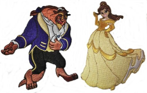 Disney/'s BEAUTY /& The BEAST Set of 2 Embroidered Patches
