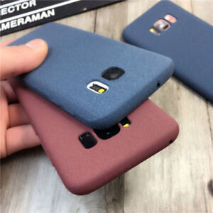 For Samsung Galaxy Note 9 S8 S7 Slim Soft Matte Rubber Silicone Phone Case Cover
