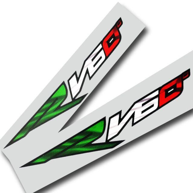 Aprilia RV60 motorcycle Decals graphics stickers x 4 ITALIAN FLAG COLOURS