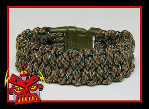 Handmade Paracord Digital Camo Cobra Bracelet Made to Measure Custom Order