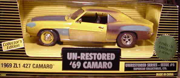 1969 Camaro UNRESTOröd version gul 1  599 1 18 Ertl American Muscle 29082