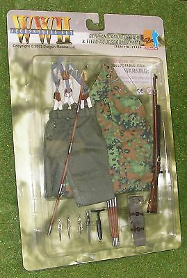 DRAGON 1//6 SCALE WW II GERMAN CAMO ZELTBAHN FIELD ACCS SET 4