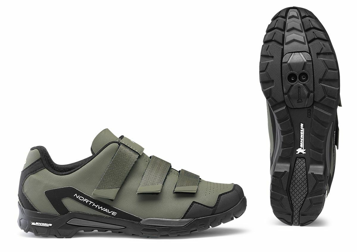 Northwave outcross 2 MTB trekking bicicleta zapatos verde negro 2019