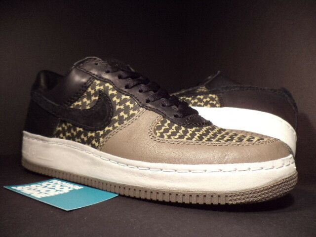 2006 Nike Air Force 1 Low IO Premium UNDEFEATED BLACK GREEN GREY 313213-032 11