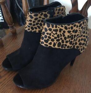 Nine West GETONITO Peep Toe Booties Booties Toe Brand New Größe 7.5 fits 8M ... 299e26