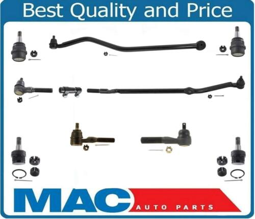 93-98 Grand Cherokee 4.0L  Drag Link Tie Rod Rods Ball Joint 10Pc Kit