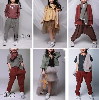 Completi Bambina Vestiti Camice Pantaloni Girl Sets Dress Pants GSET11012-13