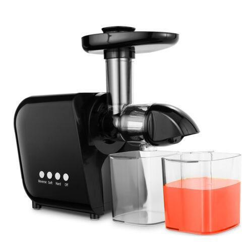 Edelstahl Entsafter Slow Juicer Saftpresse Fruchtpresse Frucht Saft 80U//min 150W