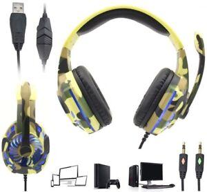 Cascos auriculares con microfono para playstation4 ps4 pc Ordenador Gaming Gamer