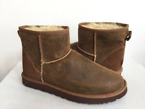 e36afb4e76a Details about UGG MEN CLASSIC MINI BOMBER JACKET CHESTNUT SUEDE Boot US 9 /  EU 42 / UK 8 New
