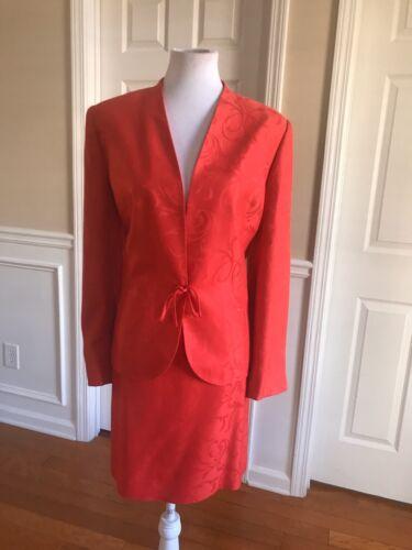 KASPER Women Beautiful 2 PC Red Floral  Belted Min