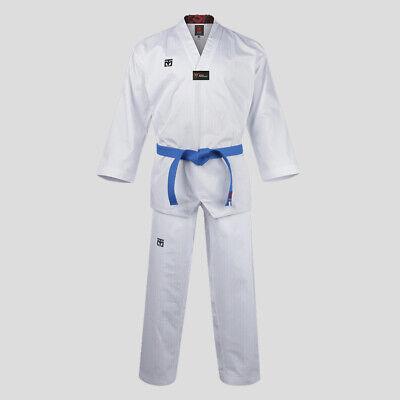 Mooto Official Taekwondo Karate Hapkido Uniform Dobok Gi  Black Collar Kid Adult