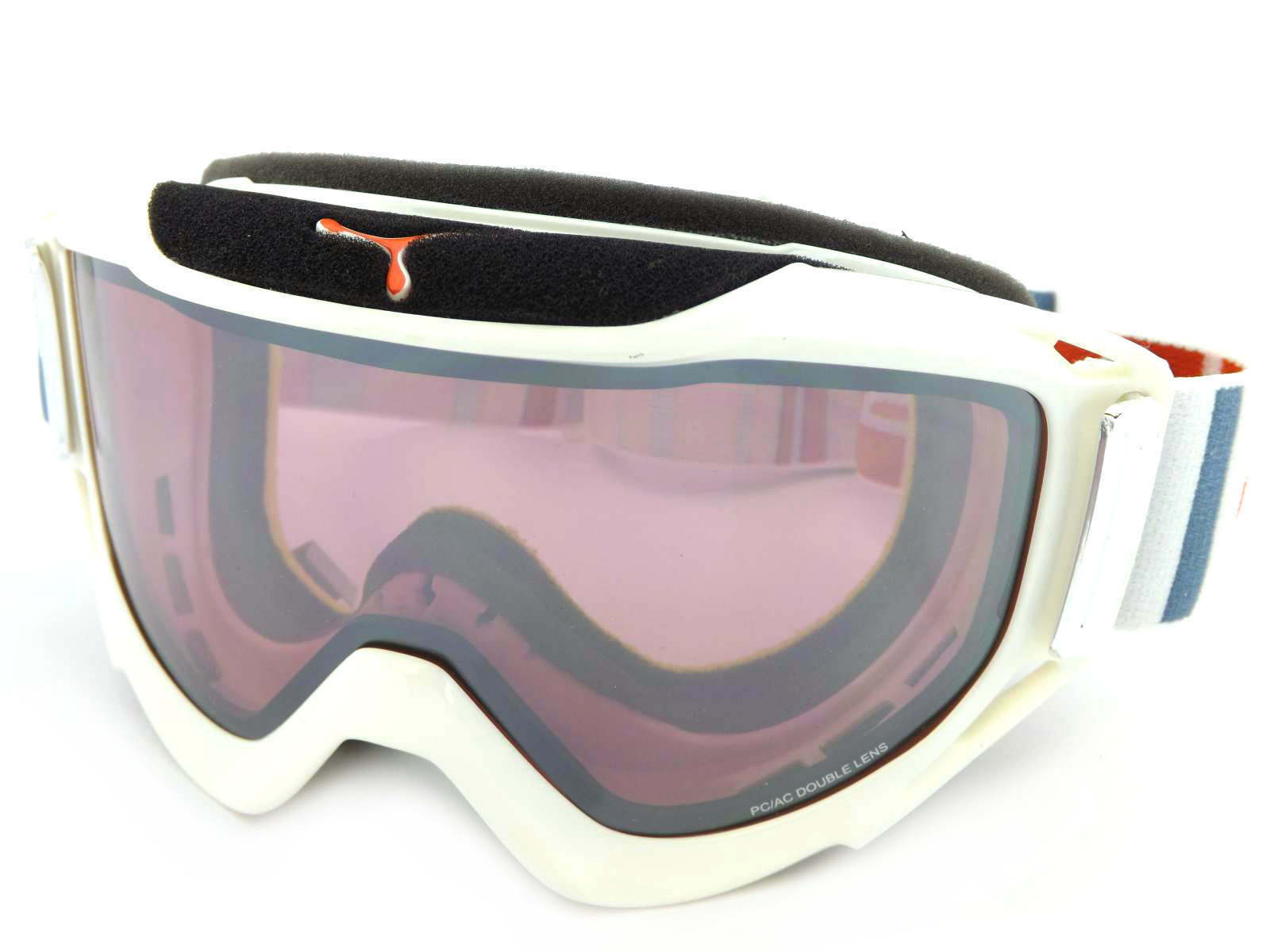 CEBE - LEGEND L ski snow Goggles WHITE-GREY-RED  pink Flash Mirror Cat.2 CBG44