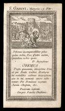 santino incisione 1700 S.GABINO M. DI ROMA
