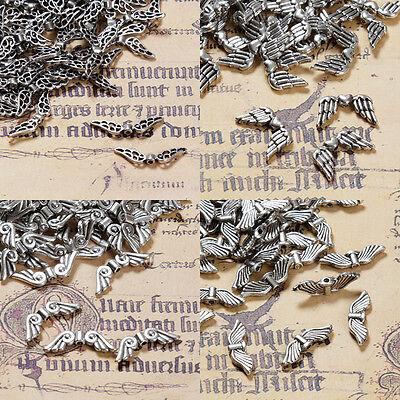 Metallperlen FLÜGEL 20mm Antik Silber Perlen Spacer Engeln basteln Schutzengel