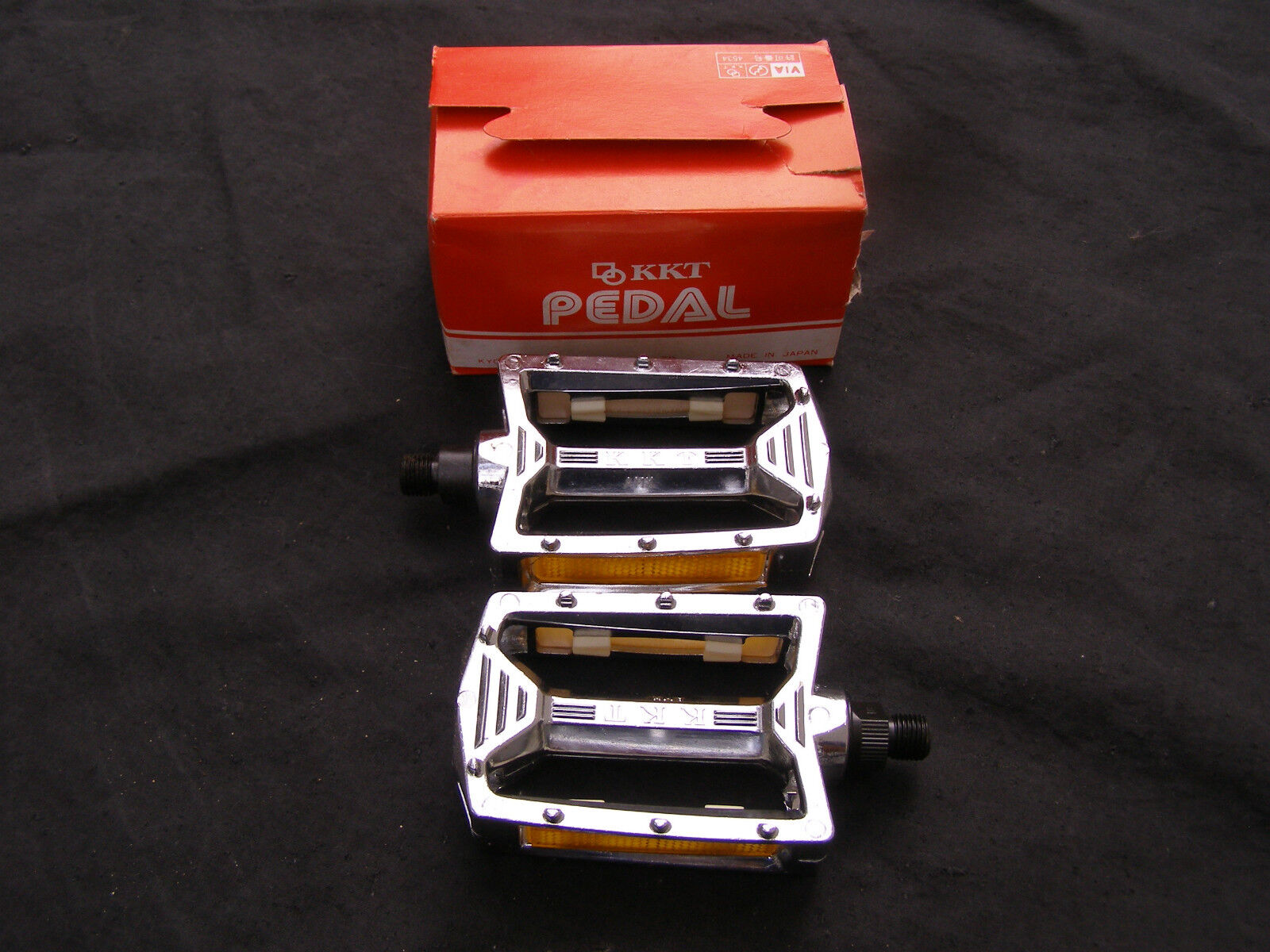 KKT 9  19 CHROME NOS PEDALS BMX RACING FREESTYLE CRUISER VINTAGE BICYCLE  great selection & quick delivery