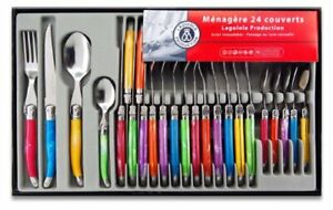 Laguiole-Production-438580-Stainless-Steel-Laguiole-Set-Handle-Set-of-24-Multi