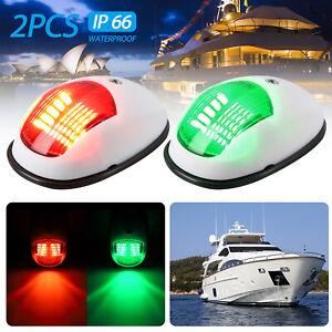 2PCS-40-LED-Navigation-Lights-Red-Green-for-Port-Starboard-Marine-Boat-Yacht-Nav