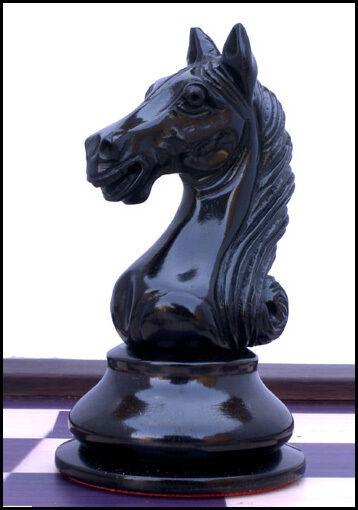 Antique Warrior Series Staunton 4  Ebony & & & Box Wood Chess Pieces with Box eca88e
