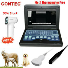 Portable Veterinary Ultrasound Scanner Machine Convex Rectal Dog Equine Bovine