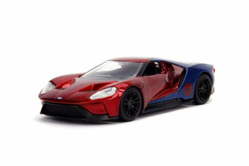 Jada 24078 Spider-Man 2017 Ford GT Scale 1:32 Red//Blue