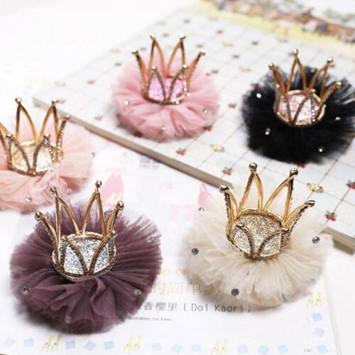 Cute Kids Girls Baby Crown Hair Clips Hairpin Princess Hair Accessories Headwear
