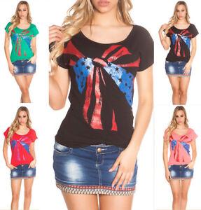 Maglietta-donna-t-shirt-maglia-scollo-largo-cotone-elasticizzata-aderente-nuovo