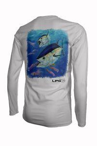 Lobo Performance Gear Bigeye Tuna Mark Ray UPF50 Long Sleeve Performance Shirt