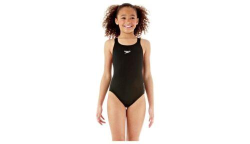 Medalist Swimsuit Swimming Suit Swimwear Costume Black Speedo Girls Endurance