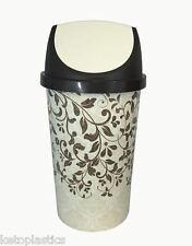25L SWING BIN, KITCHEN BIN,  RETRO, VINTAGE STYLE - FLORAL DESIGN SHABBY CHIC