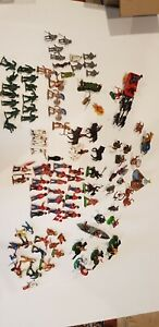 Bulk-Lot-of-vintage-toy-soldiers-Britains-Cowboys-indians-and-others-1970s