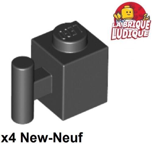 Lego LEGO Bausteine & Bauzubehör 4x Lego Ziegel geändert 1x1 Griff Griff Stange schwarz/schwarz 2921 neu