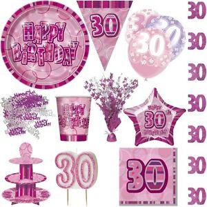 30 Geburtstag Pink Rosa Zahl 30 Party Dekoration Partydeko Jubilaum