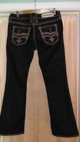 32 Revival Adorna rock rise Bootcut Lavaggio 169 Jeans Abbellito Nwot Low scuro qPwt5w
